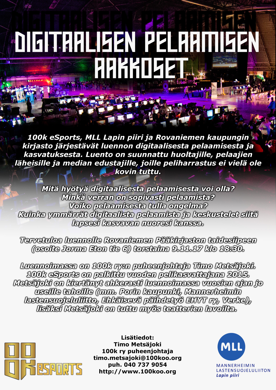 Digitaalisen pelaamisen aakkoset Rovaniemellä 9.11.2017